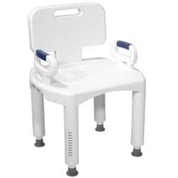 McKesson Premium Series Bath Bench with Back and Arms