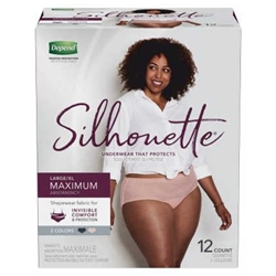 Depend Silhouette Briefs for Women