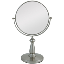 Zadro 8x/1x Swivel Satin Nickel Vanity Mirror