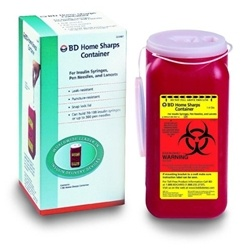 BD Home Sharps Container Needle Disposal