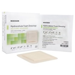 McKesson Hydrocellular Foam Dressing with Silicone Adhesive
