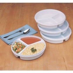 Ableware Partitioned Scoop Dish with Lid