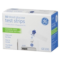 GE100 Blood Glucose Test Strips