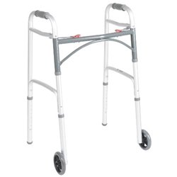 McKesson Deluxe Two Button Folding Walker