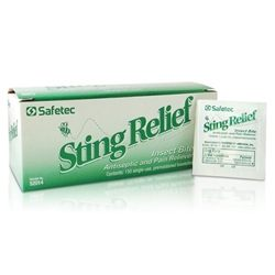 Safetec Insect Sting Relief Wipes