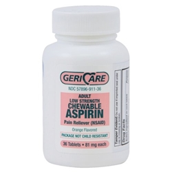 GeriCare Adult Low Strength Chewable Aspirin