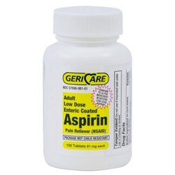GeriCare Low Dose Enteric Coated Aspirin Tablets