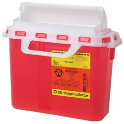 BD 5.4 Quart Sharps Disposal Container