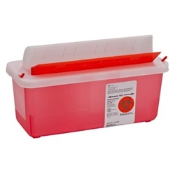 SharpSafety Sharps Disposal Container with Mailbox-Style Lid